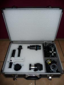 Vue globale de la malette prévue pour accueillir mes accessoires d'astronome